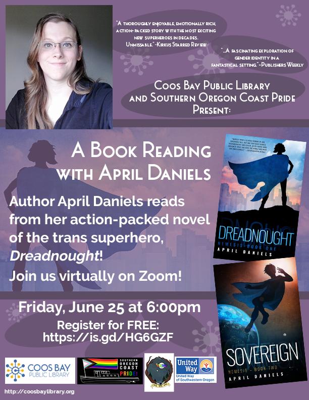 Author April Daniels reads Dreadnought!