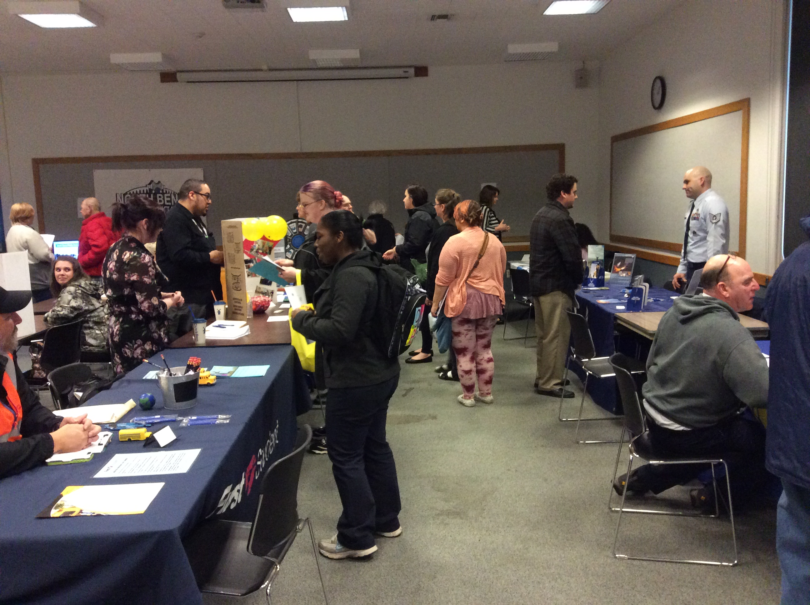 Picture of previous Job Fair @ CB Library