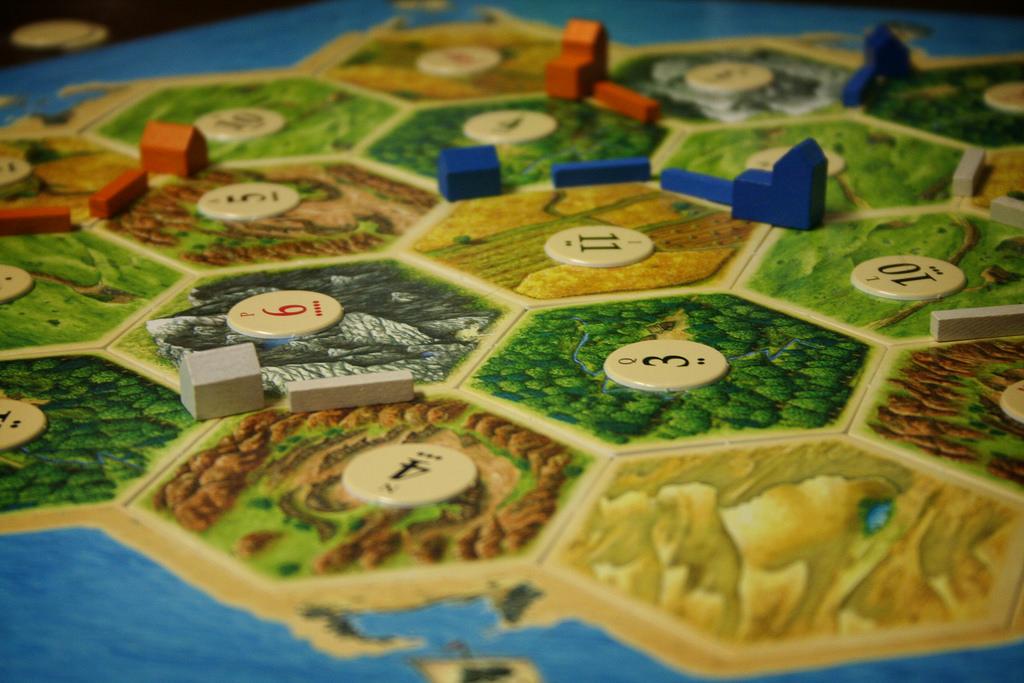 settlers of catan board