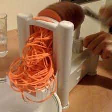 Picture of yam being spiralized