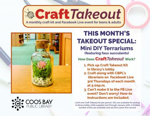 Craft Takeout poster with event details