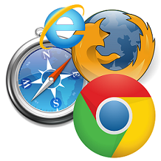 Pic of browsers: Safari, IE, Firefox, Chrome