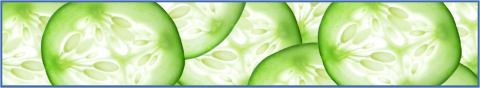 Picture of sliced cucumbers