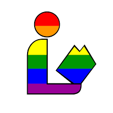Library logo with rainbow colors